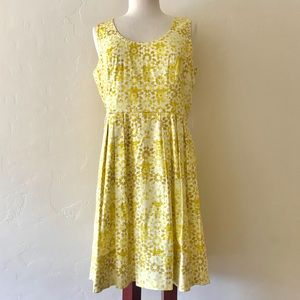 NWT Calvin Klein 10 Yellow Sleeveless Dress